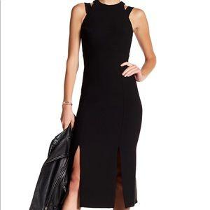 Cinq a Sept Henriette Black Midi Dress Size 4